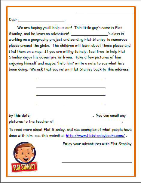 Letter Writing Flat Stanley